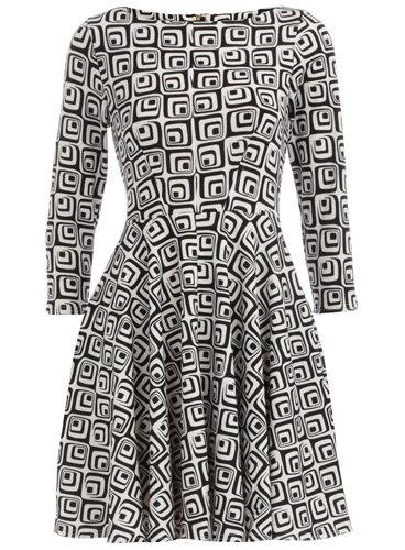 Dorothy Perkins Black/White Geo Print Dress