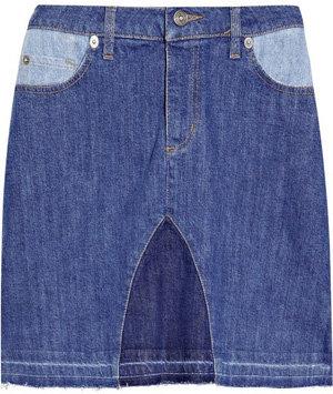 See by Chloé Patchwork Denim Skirt