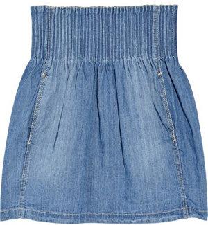 Etoile Isabel Marant High Waisted Denim Mini Skirt