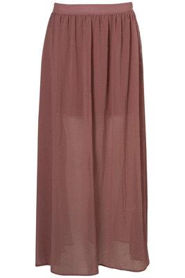 Topshop Clay Floaty Maxi Skirt