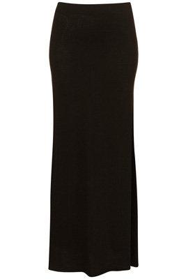 Topshop Black Basic Maxi Skirt