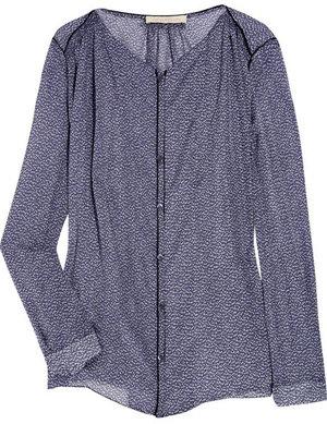 Vanessa Bruno Printed Woven Silk Blouse