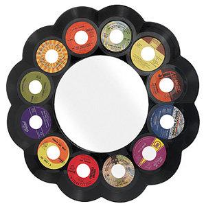 Reclaimed 45 RPM Record Mirror
