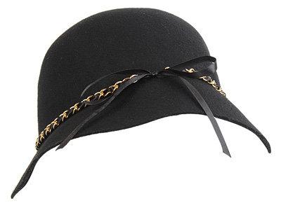 Chain Trim Cloche Hat