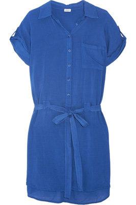 Splendid Belted Voile Shirt Dress