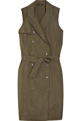 J-Crew Josephine Cotton Trench Dress