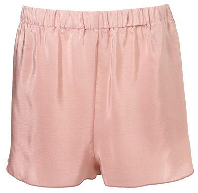 Boutique Pink Silk Shorts