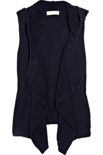 MICHAEL Michael Kors Knitted Cotton-Blend Hooded Vest