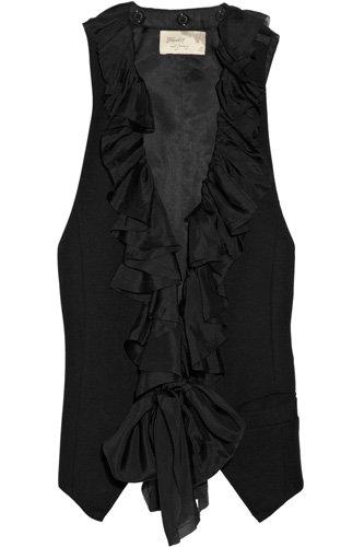 Elizabeth and James Ruffled-Collar Jersey Vest
