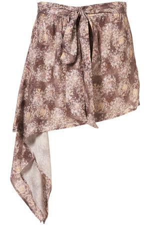 Multicolored Asymmetric Skirt