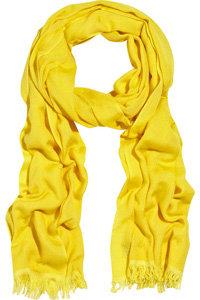 Crumpet Cashmere and Silk-Blend Scarf