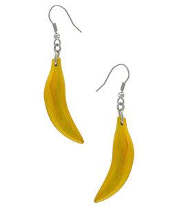 6 Top Banana Drop Earrings