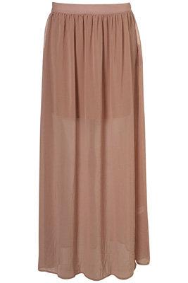 Sand Layered Maxi Skirt