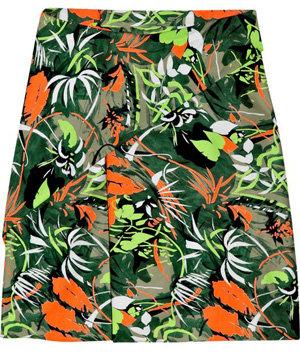 Vanessa Bruno Tie-Front Tropical Print Skirt