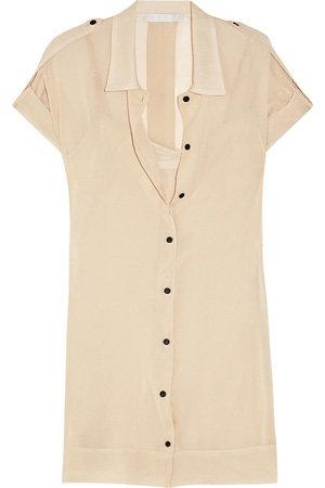 Kain Terra Silk-Chiffon Shirt Dress