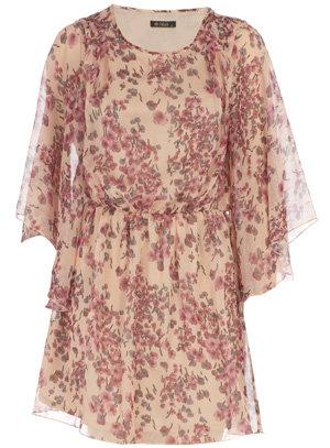 Dorothy Perkins Cream Floral Chiffon Dress