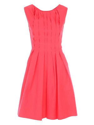 Cacherel Backless Pintuck Dress