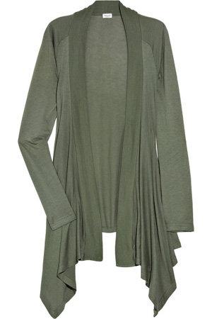Splendid Draped Cotton and Modal-Blend Cardigan