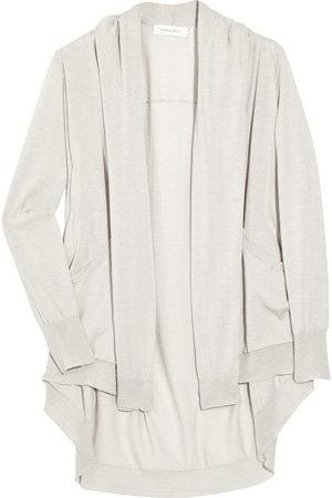 Inhabit Draped Fine-Knit Cotton Cardigan
