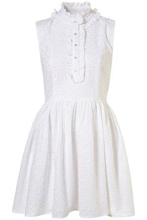 Parasol White Broderie Anglais Dress