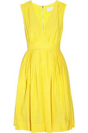 Adam Silk and Cotton-Blend Full Dress