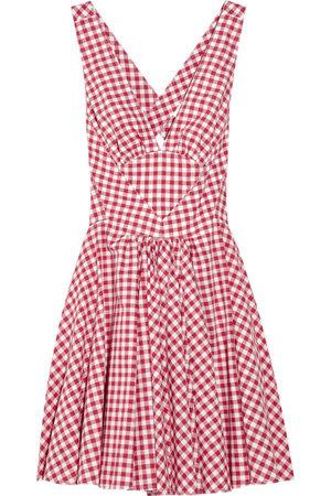 D&G Cross-Back Gingham Cotton Dress
