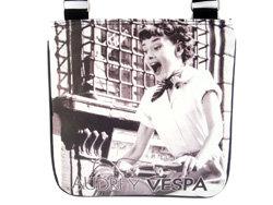 Audrey Hepburn Retro Vespa Sling Messenger Bag Purse