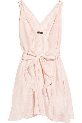 Katharine Hamnett Gina Washed Silk-Satin Dress