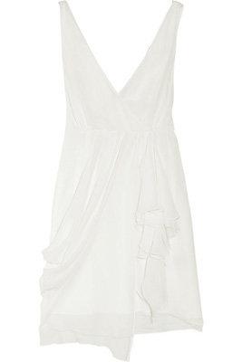 Alice + Olivia Silk Wrap-Effect Dress