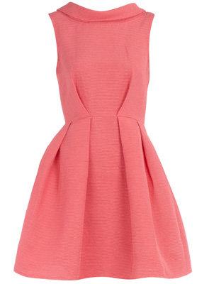 Dorothy Perkins Coral V-Back Dress