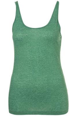 Topshop Green Basic Scoop Vest