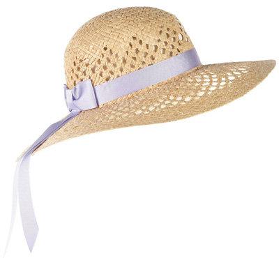 Topshop Straw Ribbon Floppy Hat