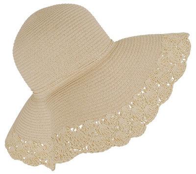 Forever21 Basketweave Floppy Hat