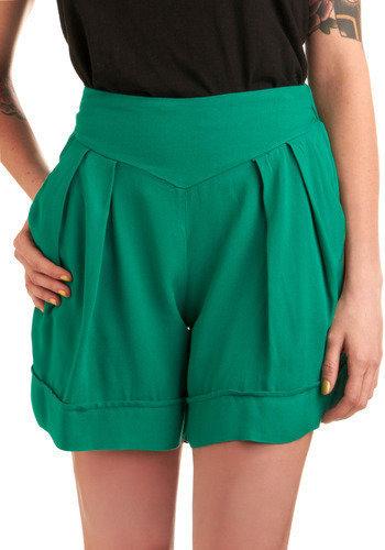 Green Field Day Shorts