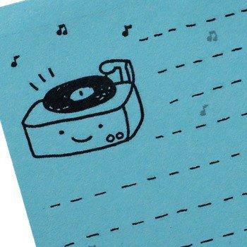 Happy Record Player Mini Notepad