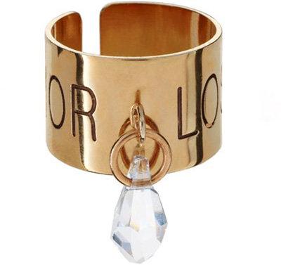 Maria Francesca Pepe Ring with Swarovski Crystal Drop