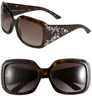Dior 'Ondine' Crystal Flower Temple Sunglasses