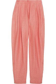 Emilio Pucci Cropped Linen-Blend Pants
