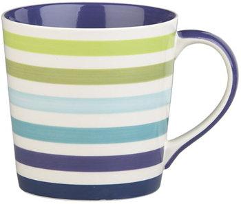 Crate and Barrel Stripes Mug