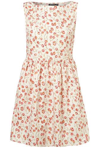 Topshop Cherry Print Fifties Sundress