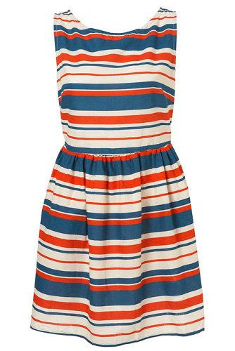 Topshop Nautical Stripe 50s Sundress