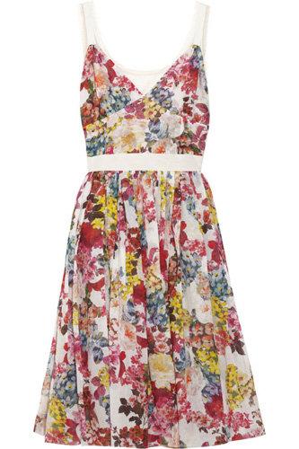 D&G Floral-Print Stretch-Cotton Dress