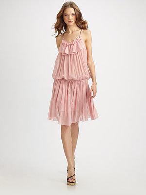 Marc Jacobs Cotton Ruffle Tank Dress