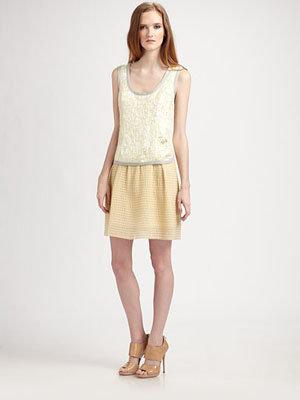 Marc Jacobs Sleeveless Brocade Top Dress