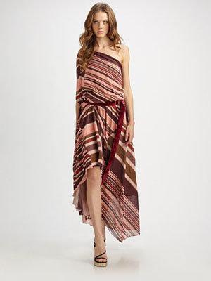 Marc Jacobs Diagonal Draped One Shoulder Dress