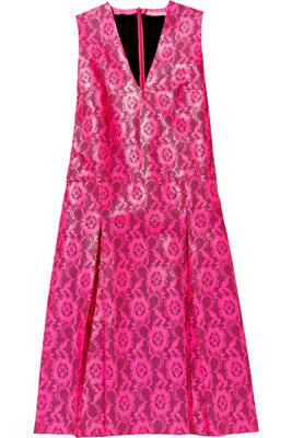 Christopher Kane Laser Cut Neon Leather Dress