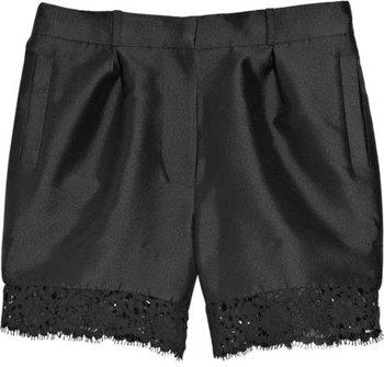 Erdem Pippa Lace-trim Satin-twill Shorts