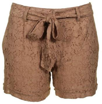 Vila Women's Fabi Camel Lace Shorts