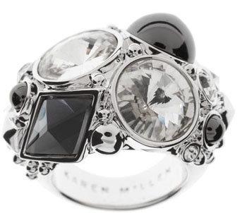 Karen Millen Crystal and Bead Ring