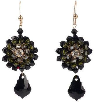 Marta per Multi-Coloured Swarovski Crystal Earrings